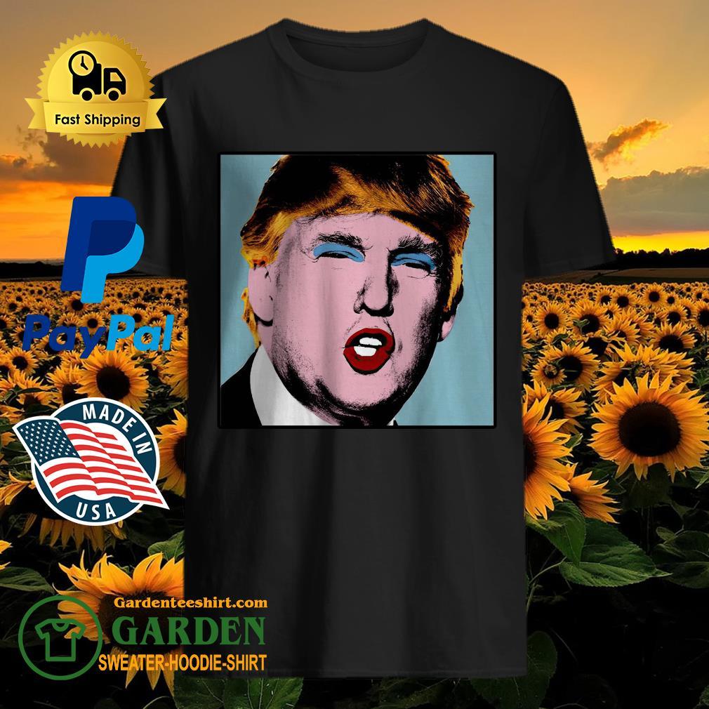 Donald Trump makeup style Warhol shirt