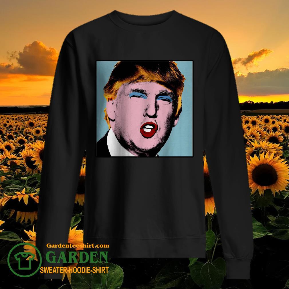 Donald Trump makeup style Warhol sweater