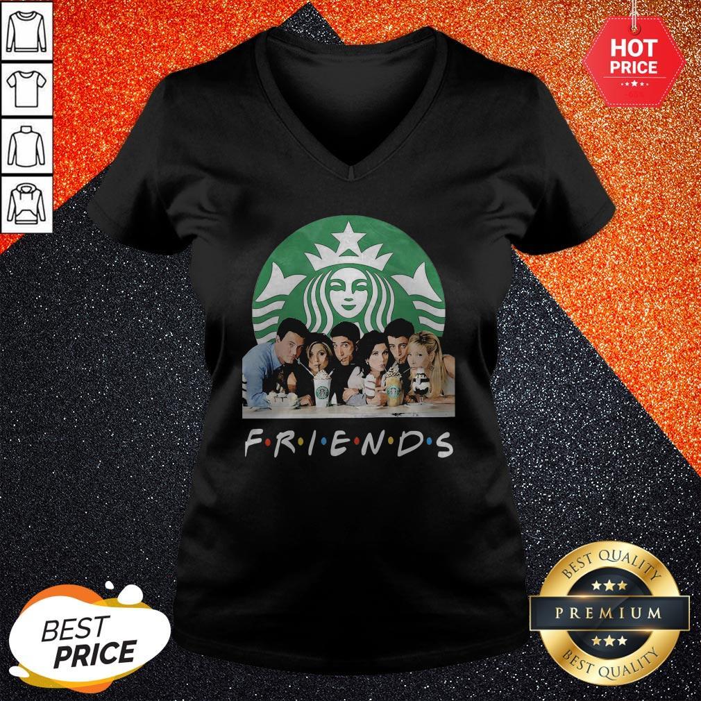 Friends Character Starbucks Coffee V-neck
