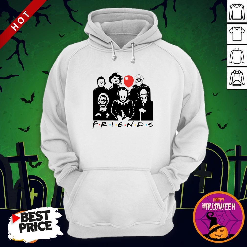 Funny Horror Character Friends Halloween Hoodie