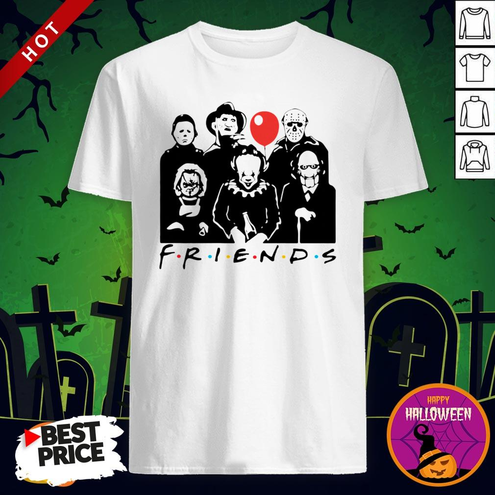 Funny Horror Character Friends Halloween Shirt