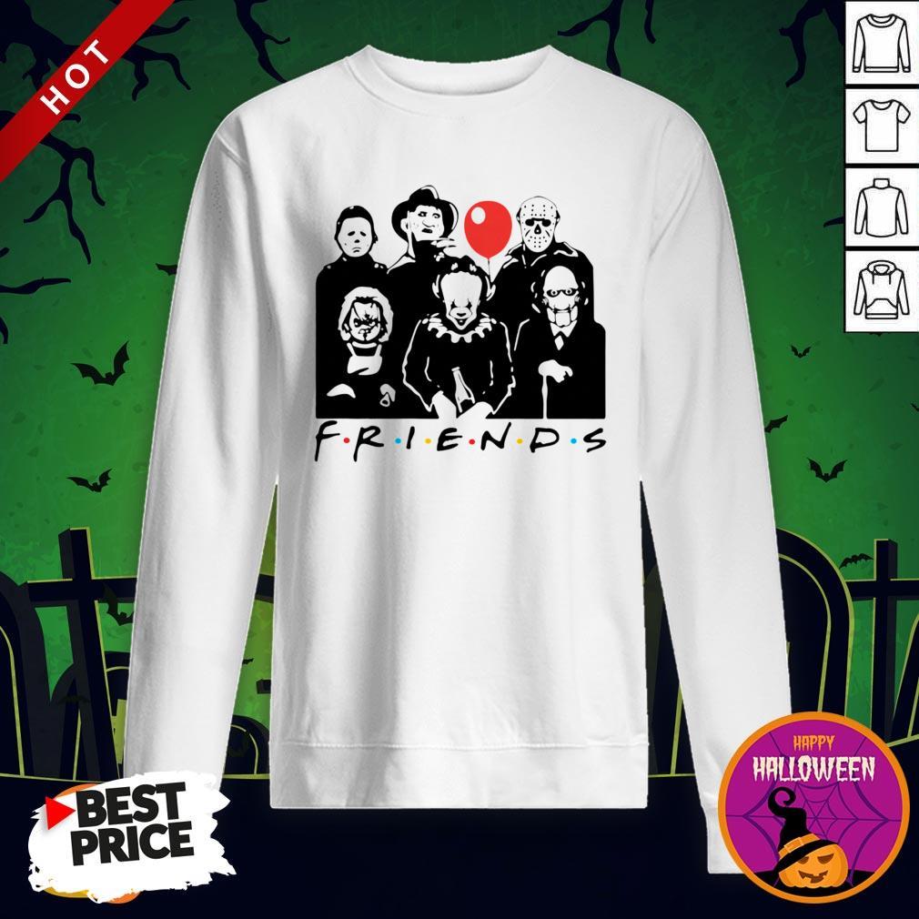 Funny Horror Character Friends Halloween Sweatshirt