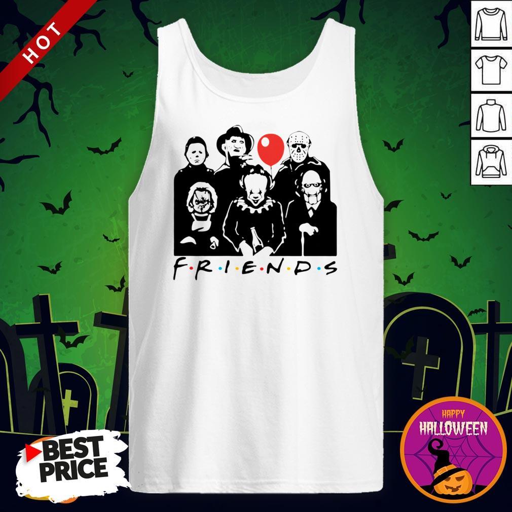 Funny Horror Character Friends Halloween Tank Top