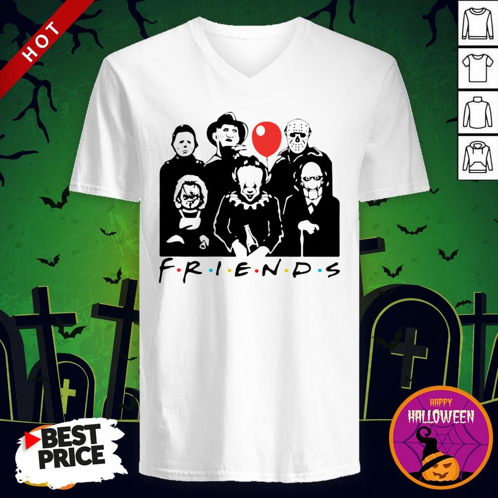 Funny Horror Character Friends Halloween V-neck
