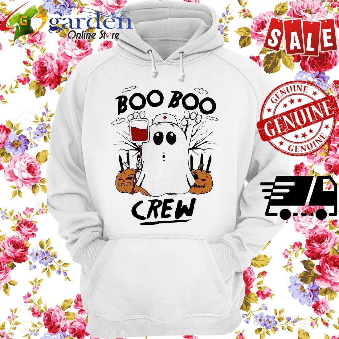 Ghost Pumpkins Nurse Boo Boo Crew Halloween hoodie