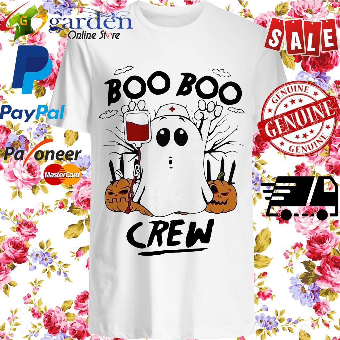 Ghost Pumpkins Nurse Boo Boo Crew Halloween Shirt