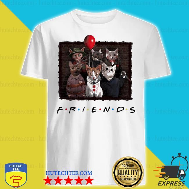 Halloween friends tv show cat horror movie character shirt