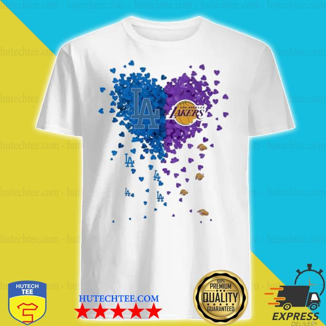 Heart Los Angeles Dodgers and Los Angeles Lakers shirt