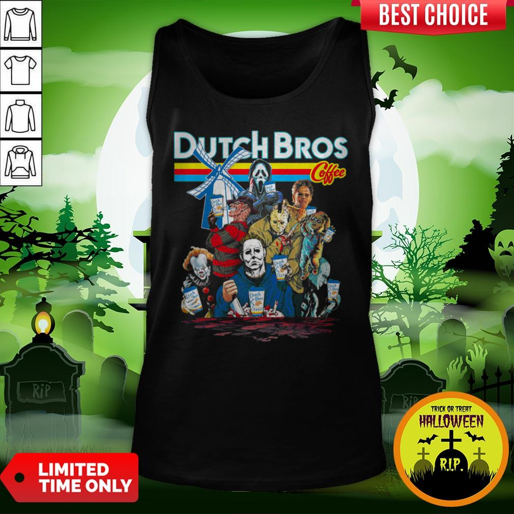Horror Movie Characters Dutch Bros Coffee Halloween Tank Top