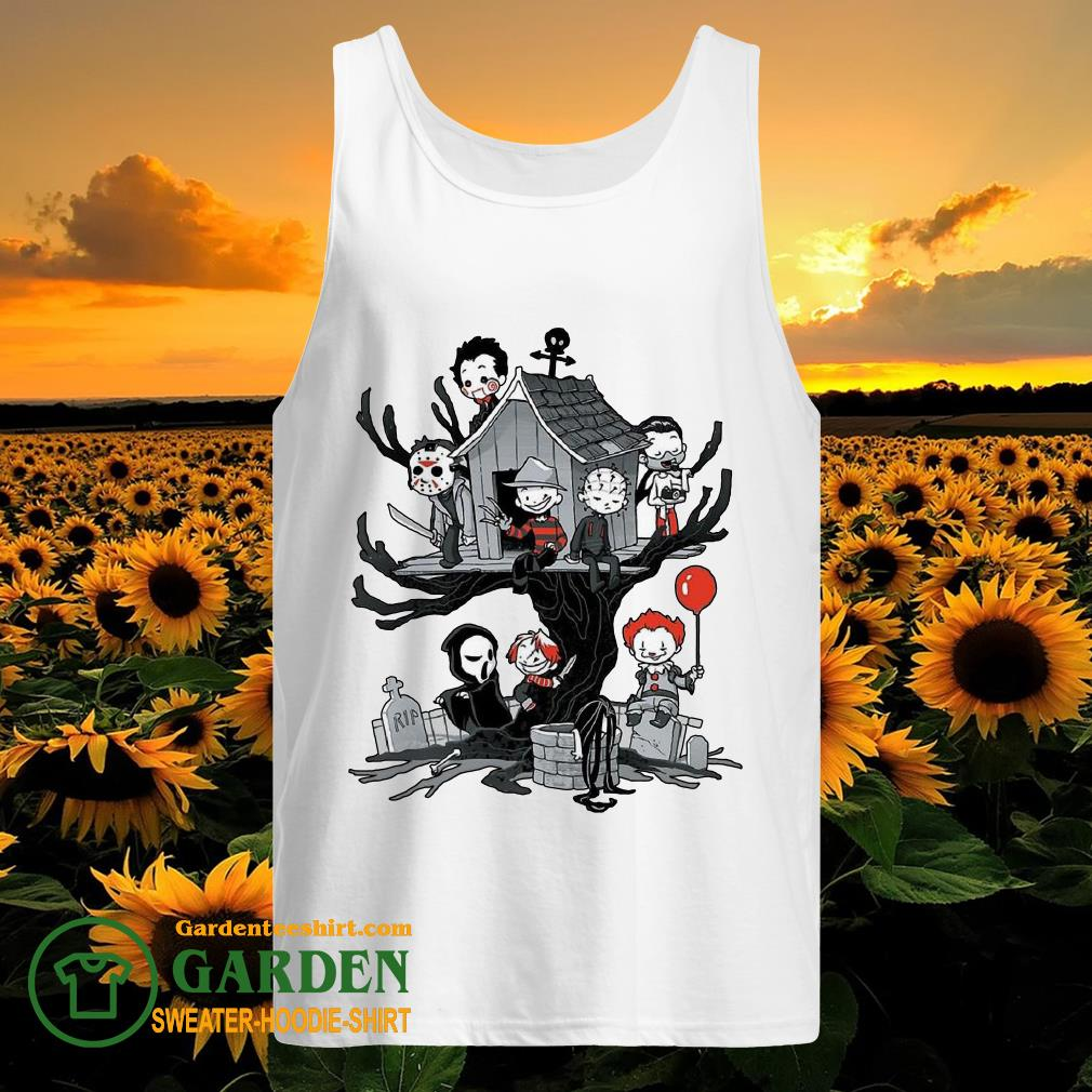 Horror Park Halloween Horror Chibi Characters tank top