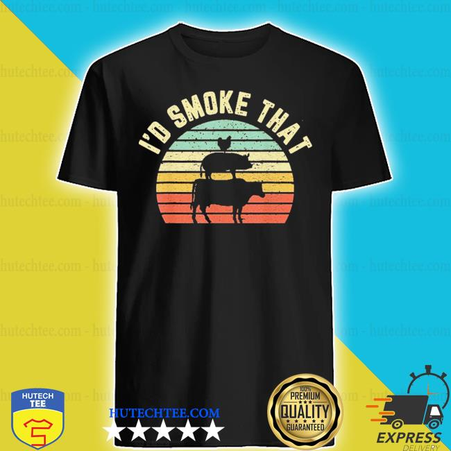 I'd smoke that retro barbeque grilling shirt