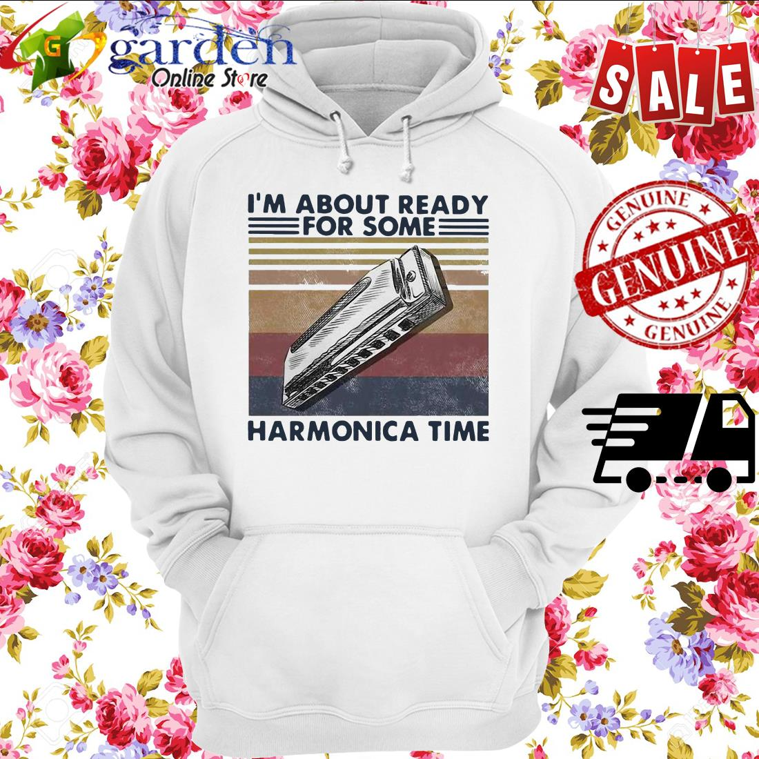 I'm About Ready For Some Harmonica Time Vintage hoodie