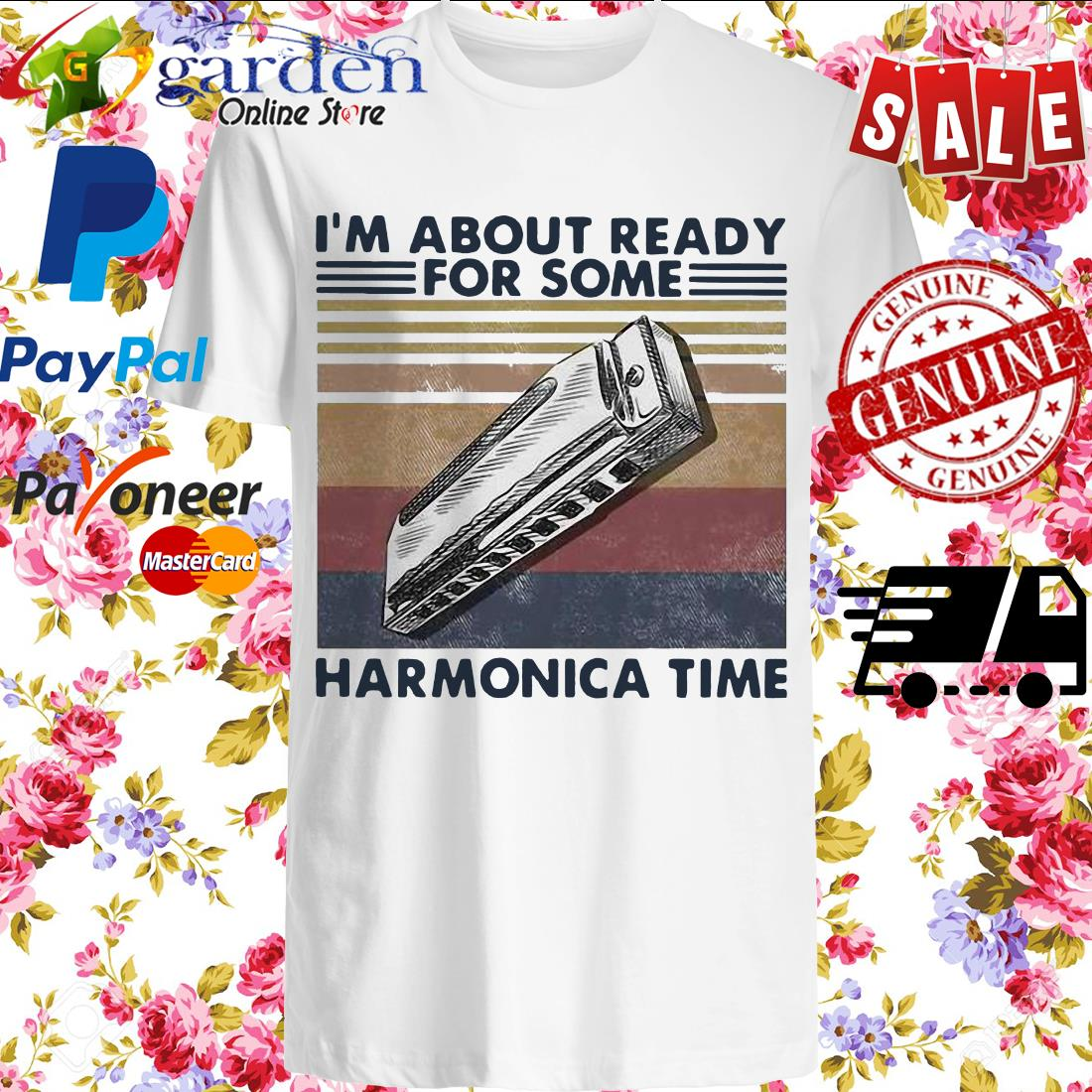 I'm About Ready For Some Harmonica Time Vintage Shirt
