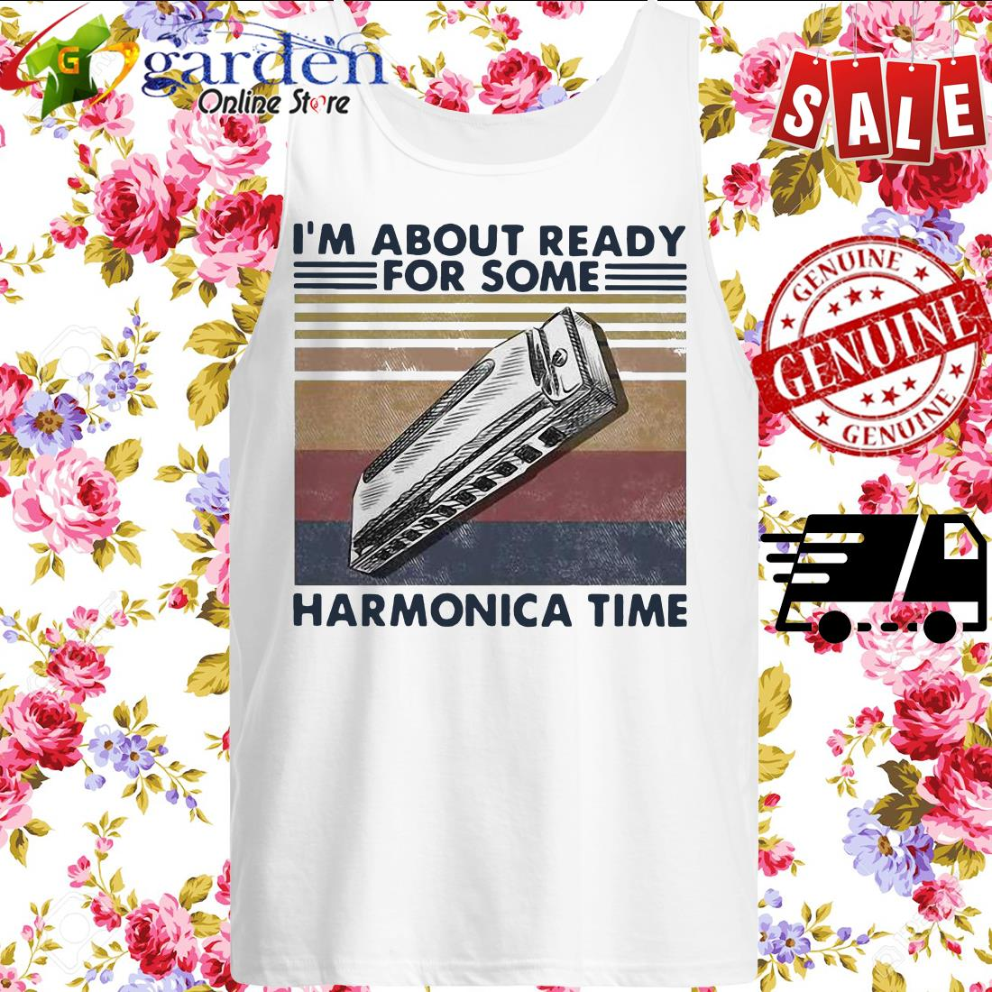 I'm About Ready For Some Harmonica Time Vintage sweater