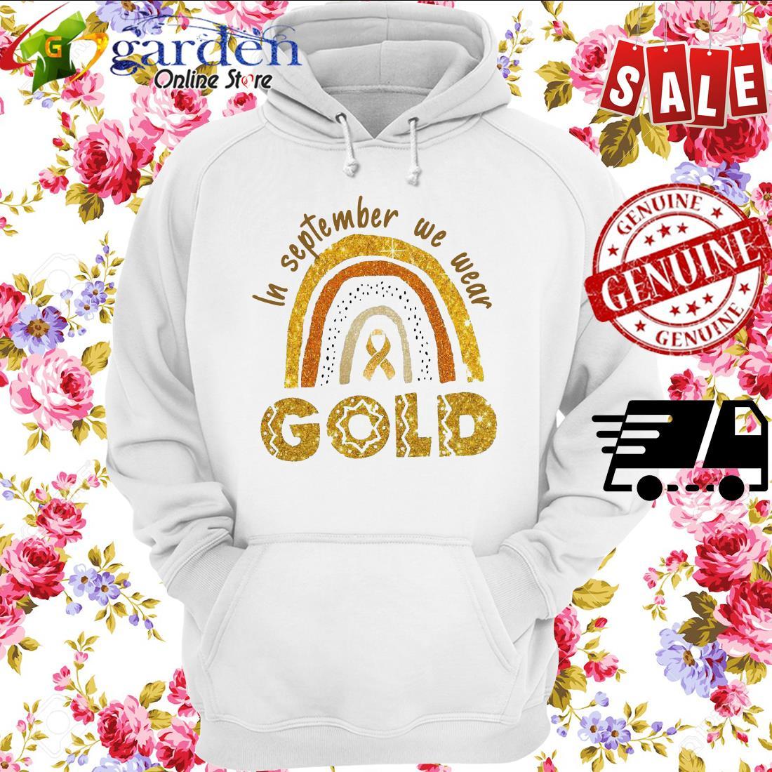 In September We Wear Gold hoodie