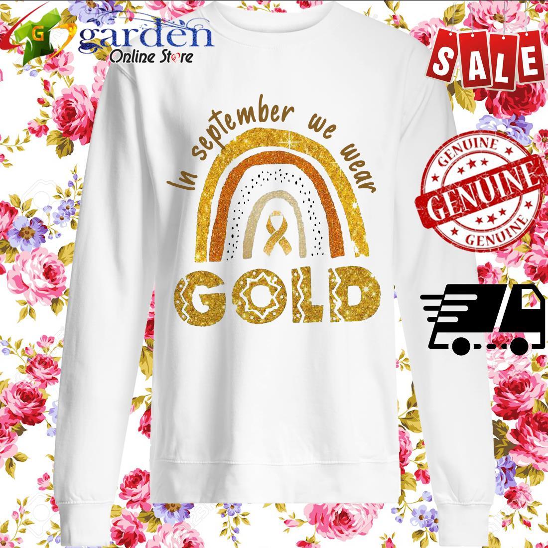 In September We Wear Gold sweater
