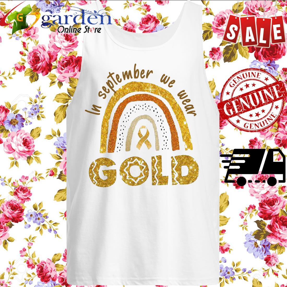In September We Wear Gold tank top