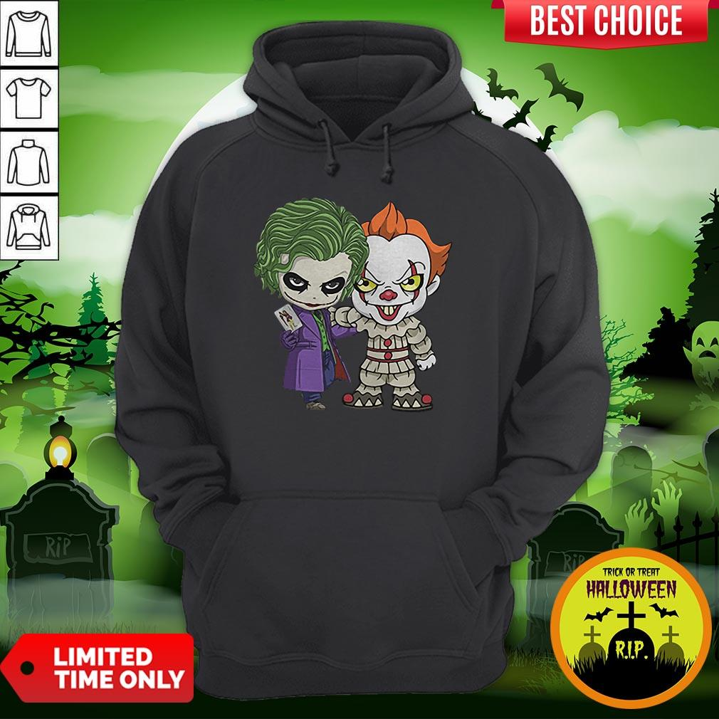 It Joker Pennywise Stand Together Halloween Horror Hoodie