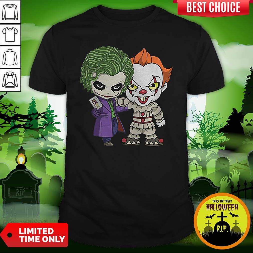 It Joker Pennywise Stand Together Halloween Horror Shirt