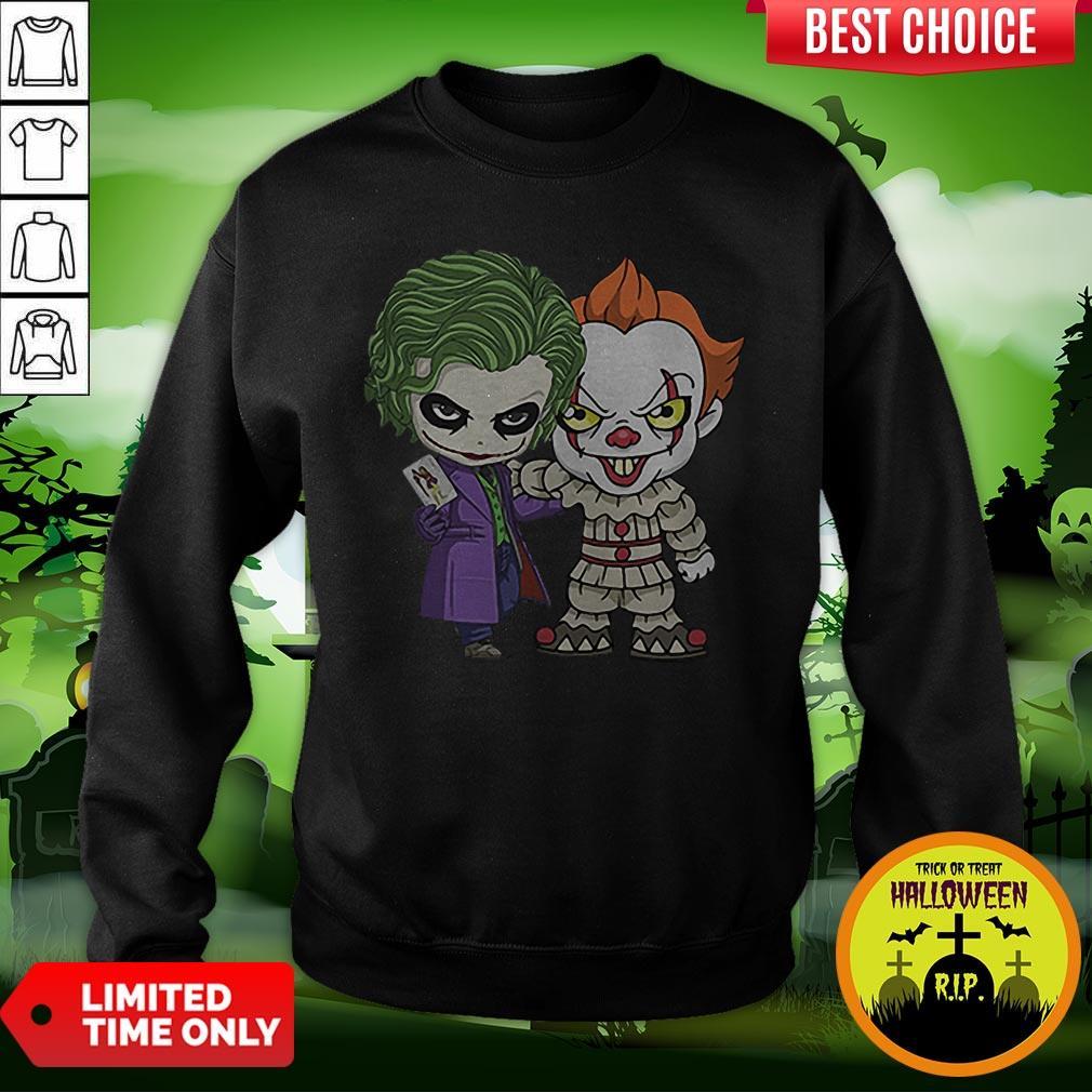 It Joker Pennywise Stand Together Halloween Horror Sweatshirt