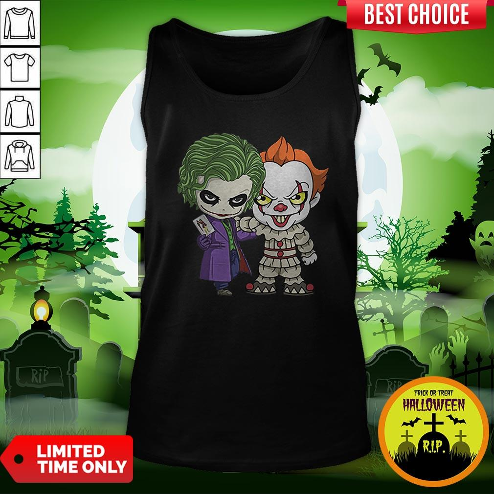 It Joker Pennywise Stand Together Halloween Horror Tank Top