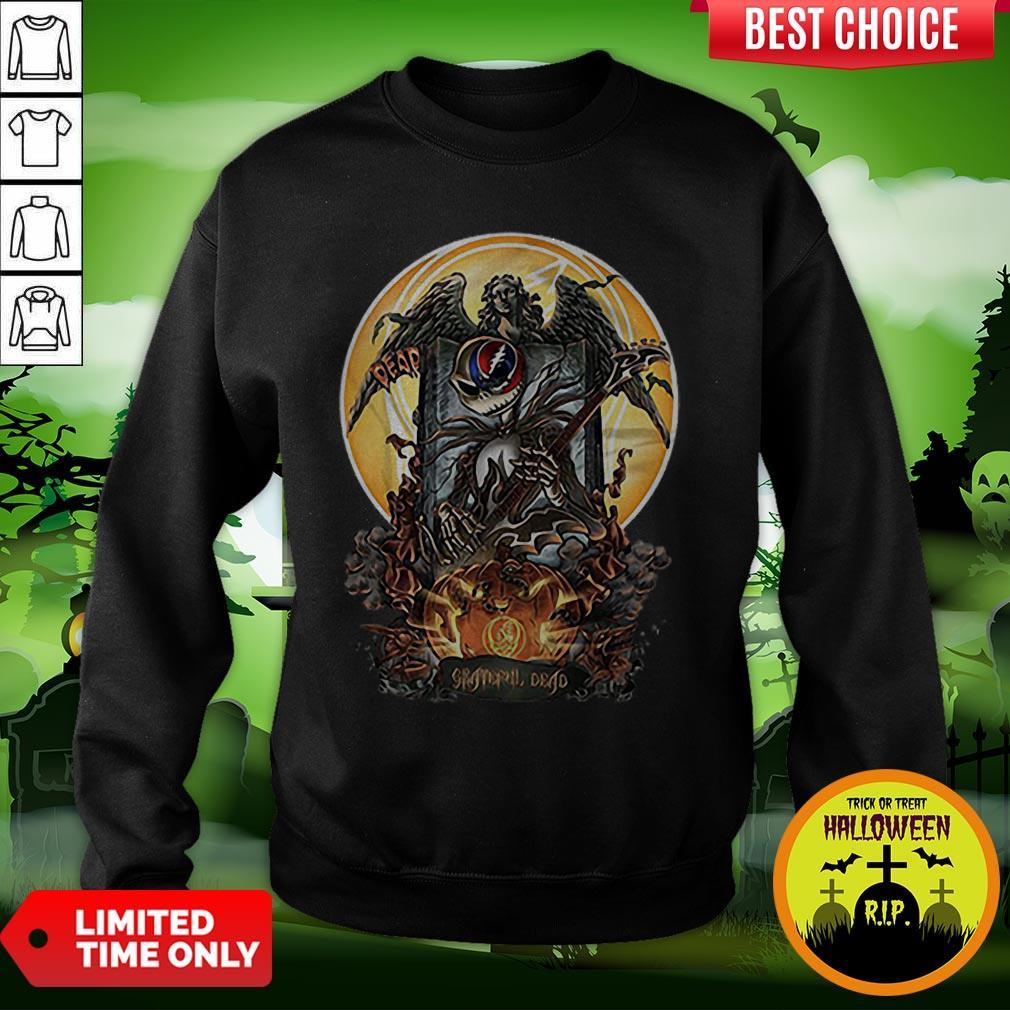 Jack Skellington Grateful Dead Pumpkin Halloween Sweatshirt