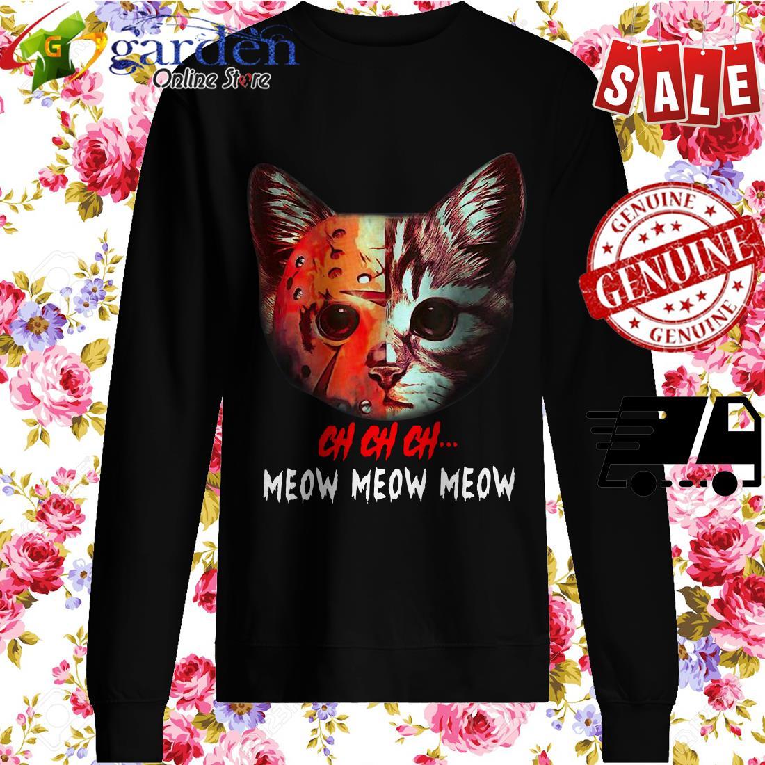 Jason Voorhees Cat Ch Ch Ch Grr Grr Grr sweater