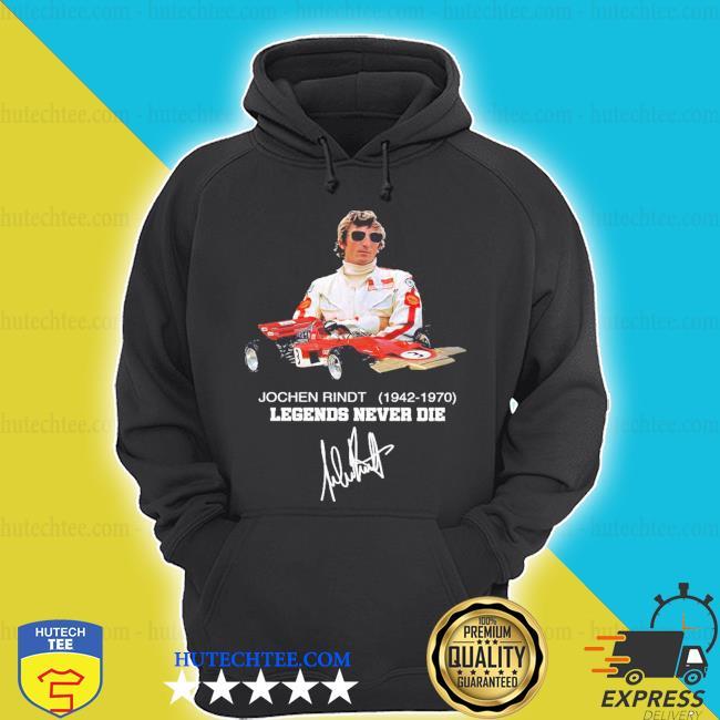 Jochen rindt 1942 1970 legends never die signature s hoodie