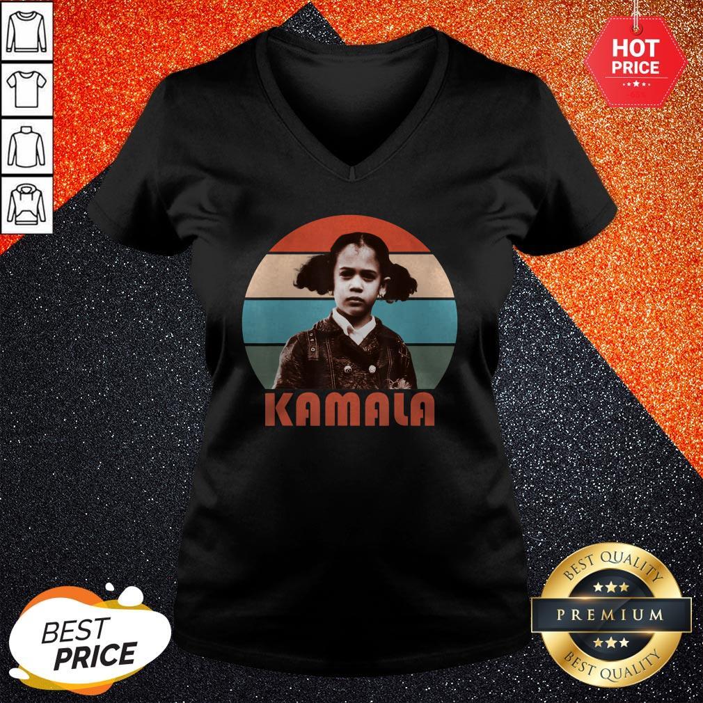 Kamala Harris That Little Girl Vintage Retro V-neck