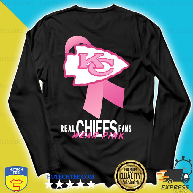 Kansas City Chiefs Real Chiefs Fans Wear Pink Breast Cancer s longsleeve