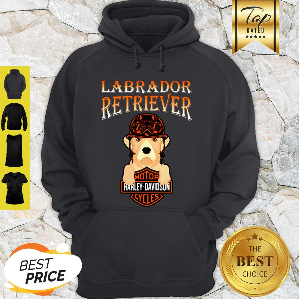 Labrador Retriever Mashup Motor Harley Davidson Cycles Hoodie