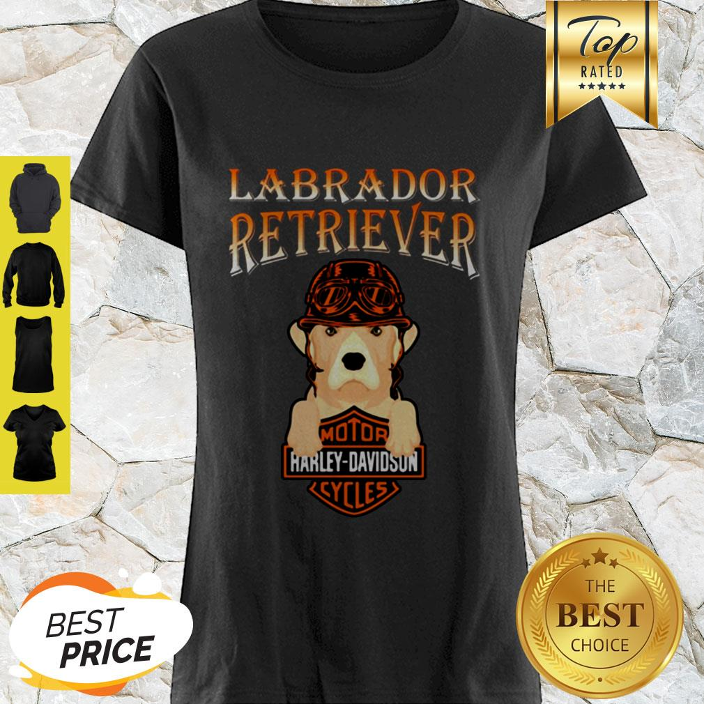 Labrador Retriever Mashup Motor Harley Davidson Cycles Shirt