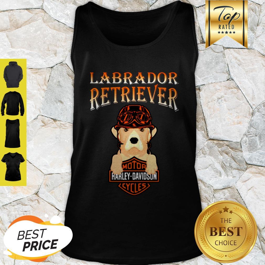 Labrador Retriever Mashup Motor Harley Davidson Cycles Tank Top