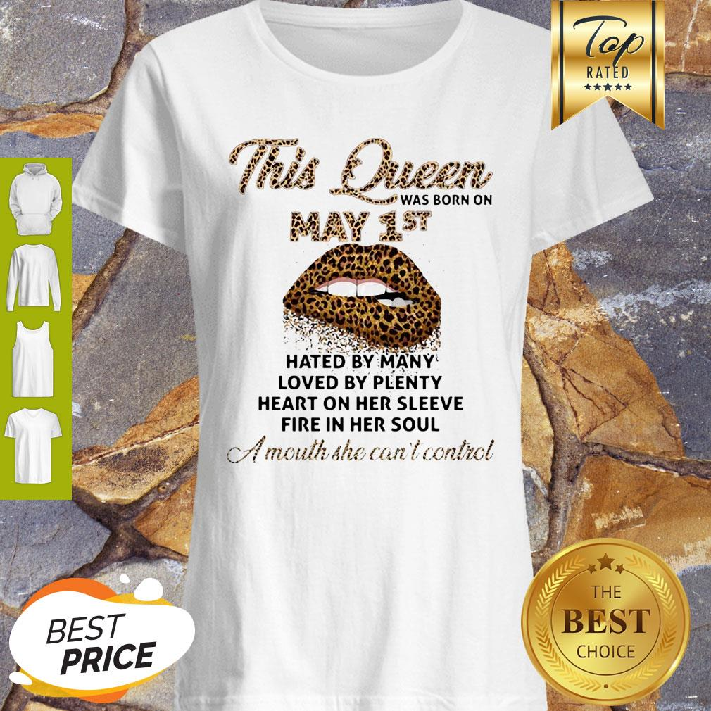 Lips Leopard This Queen Was Born On May 1st Hated By Many Loved By Plenty Shirt