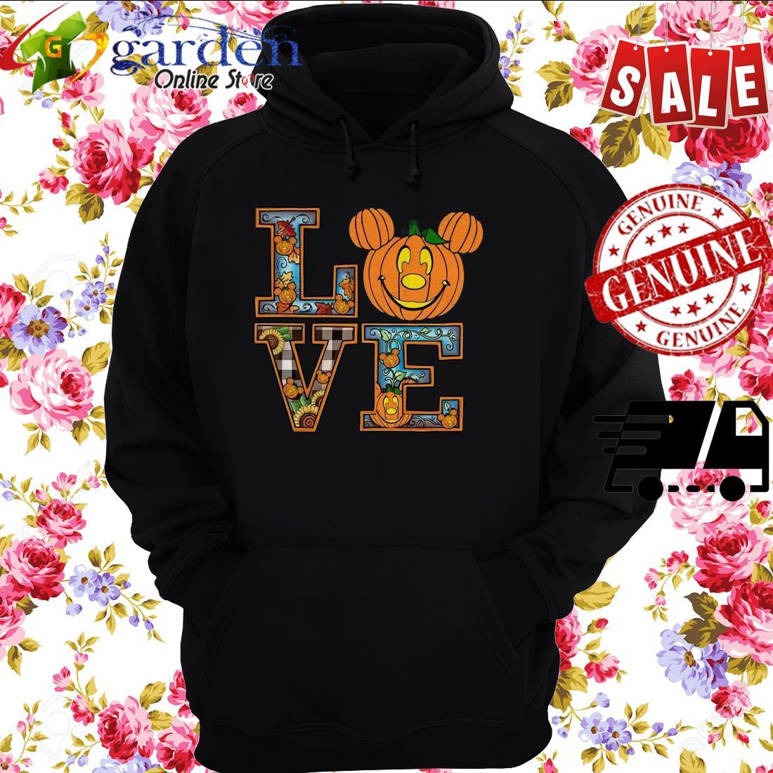 Love Mickey Pumpkin Halloween hoodie