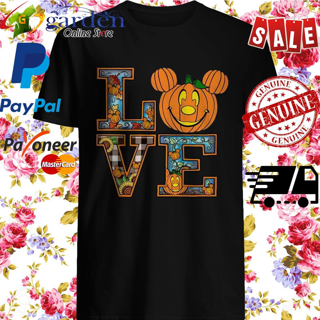 Love Mickey Pumpkin Halloween Shirt