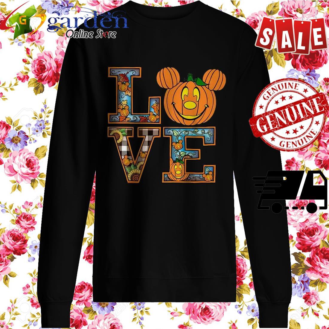 Love Mickey Pumpkin Halloween sweater
