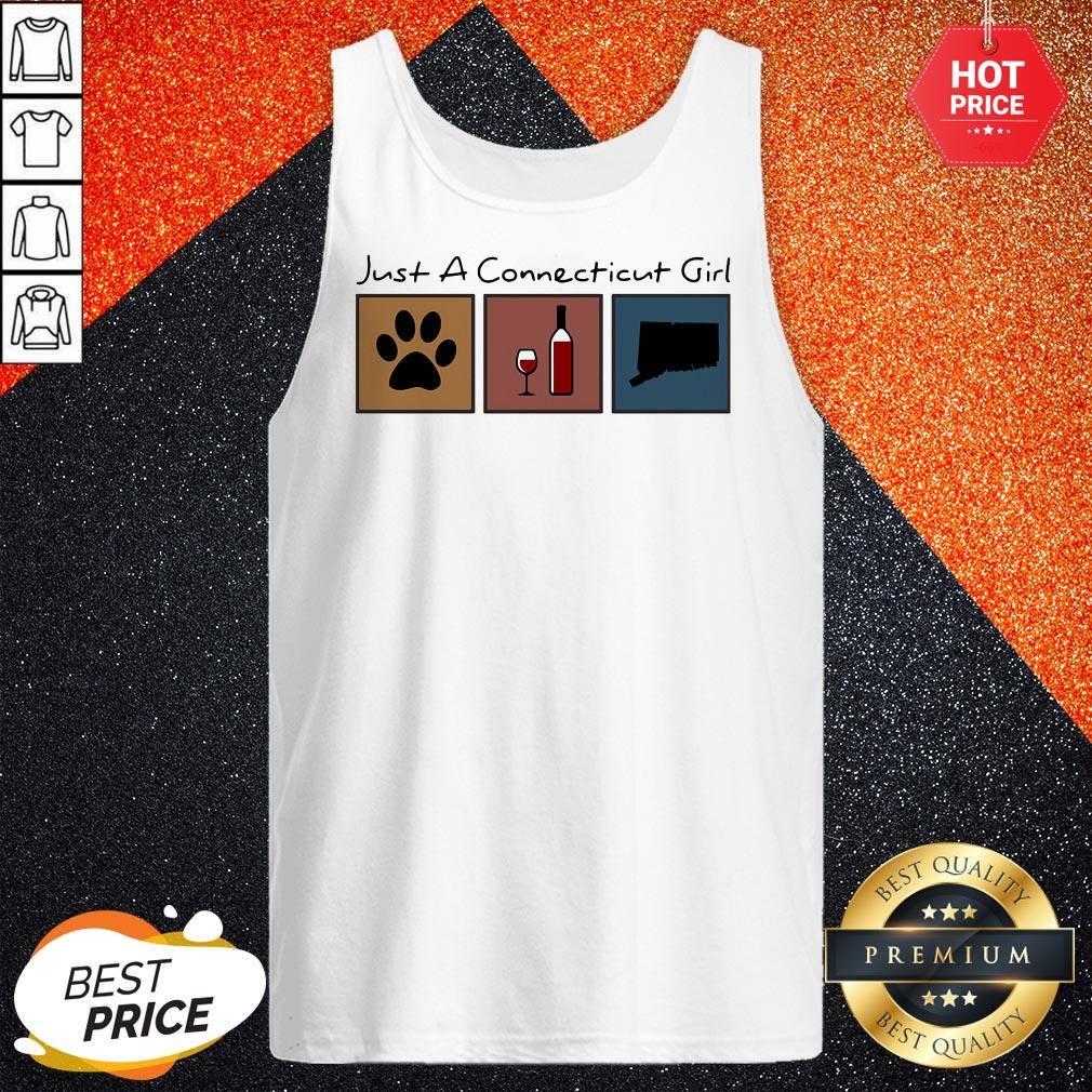 Maybe Just A Connecticut Girl Flip Flop Cat Paw Wine Tank Top