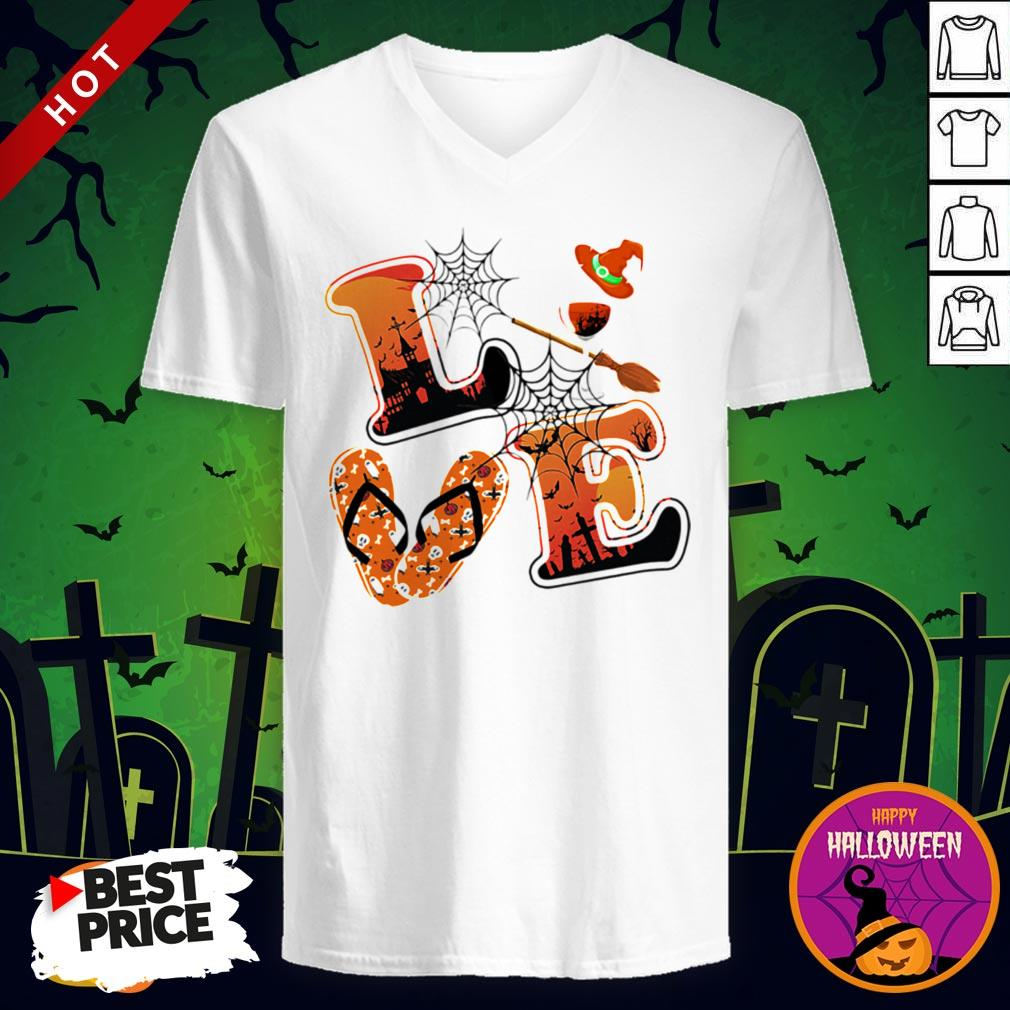 Maybe Love Halloween Witch V-neck