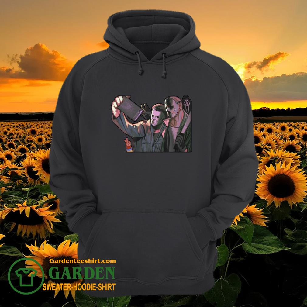 Michael Myers and Jason Voorhees take a picture hoodie