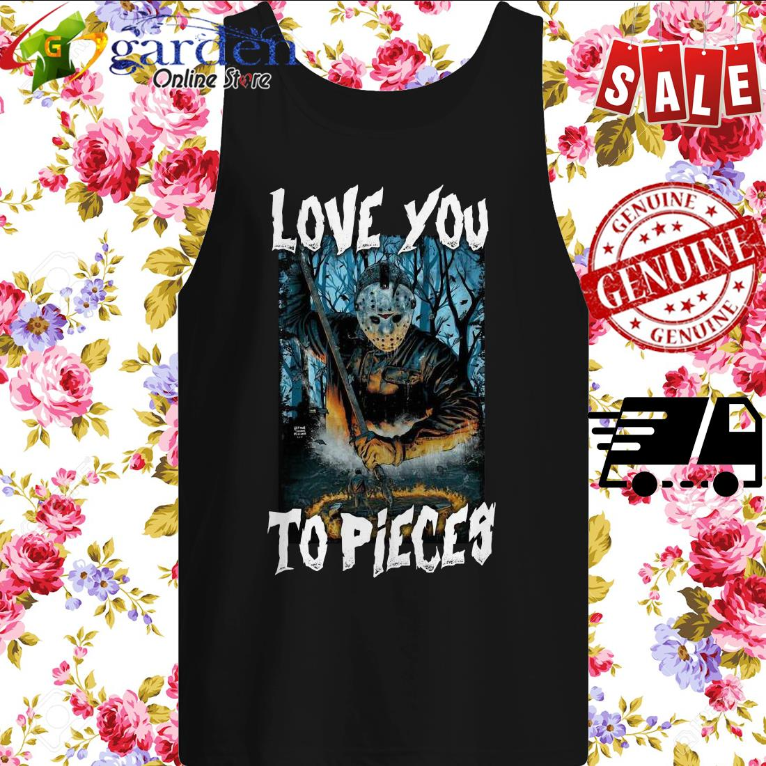 Michael Myers Love You To Pieces Halloween tank top