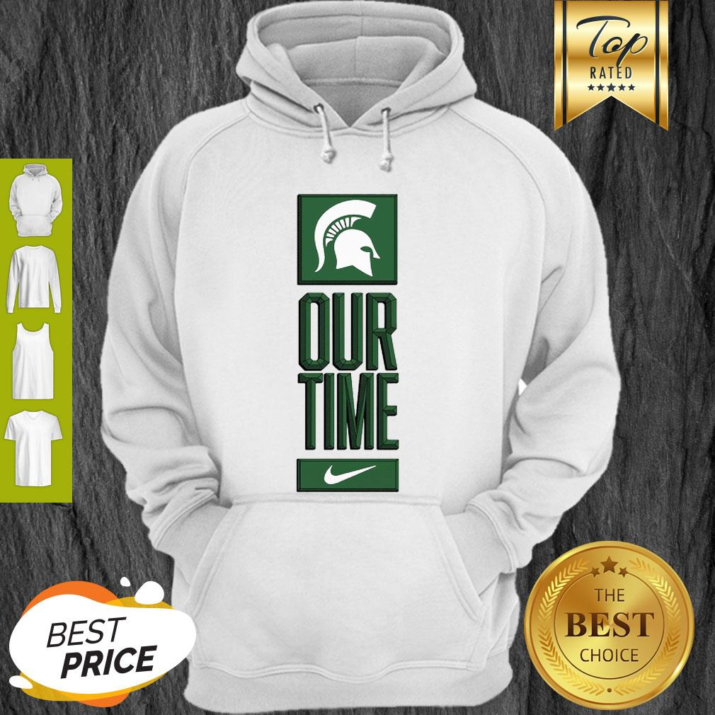 Michigan State Spartans Logo Basketball Our Time 2020 Hoodie