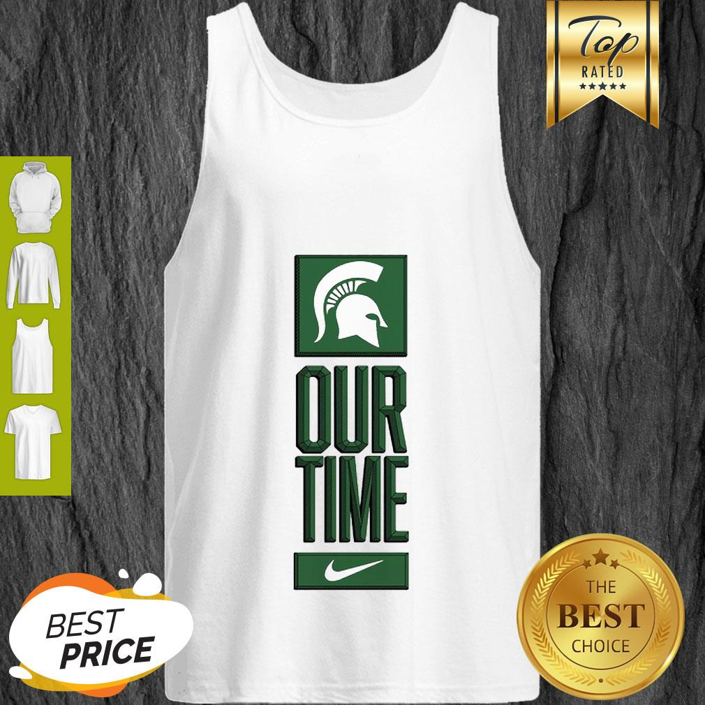 Michigan State Spartans Logo Basketball Our Time 2020 Tank Top