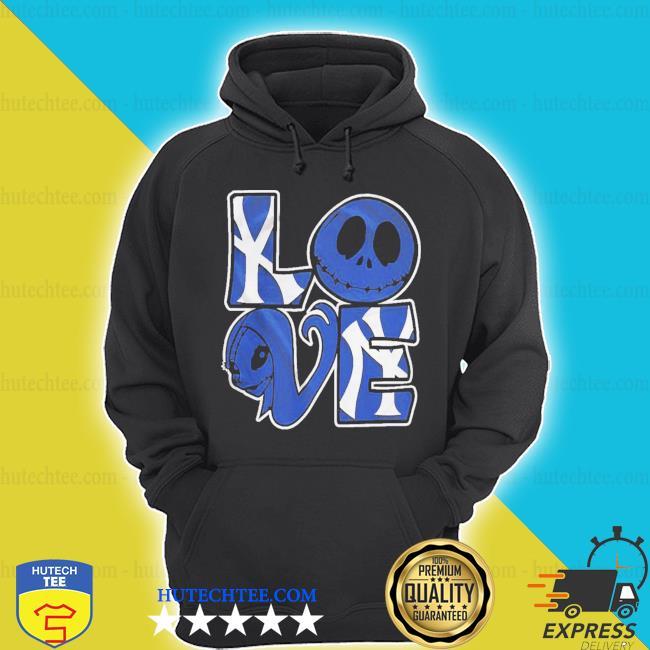 New york yankees jack skellington and sally love s hoodie