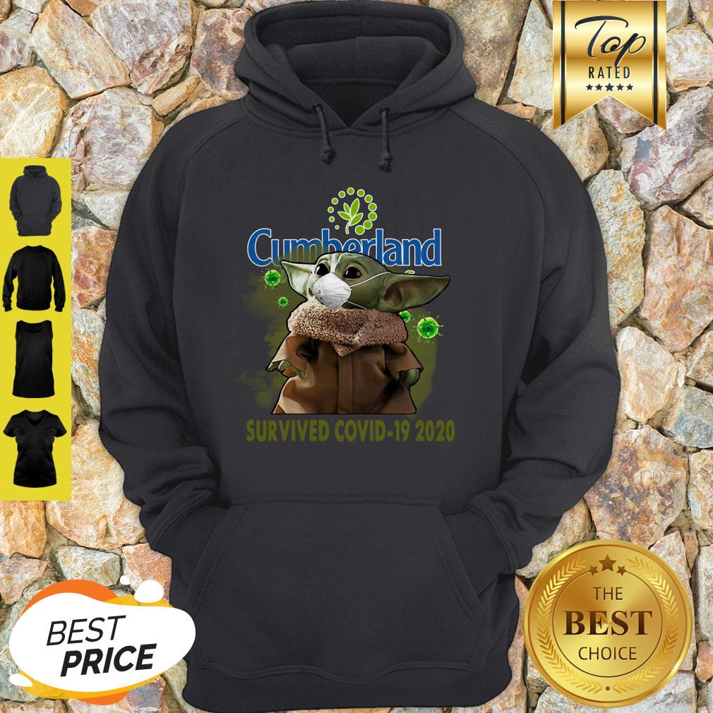 Nice Baby Yoda Cumberland Farms Survived Covid-19 2020 Hoodie