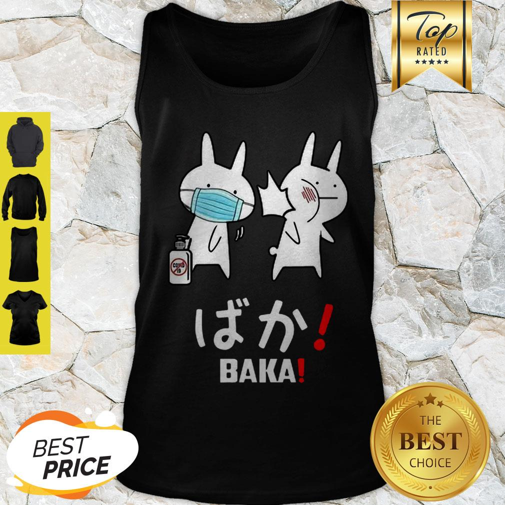 Nice Baka Rabbit Japanese Coronavirus Tank Top