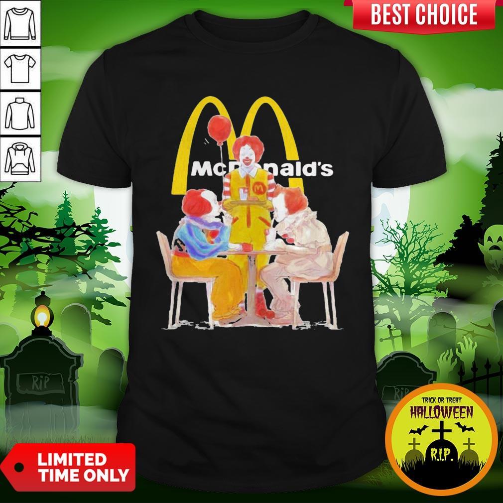 Nice Halloween Joker Characters Mcdonalds Shirt