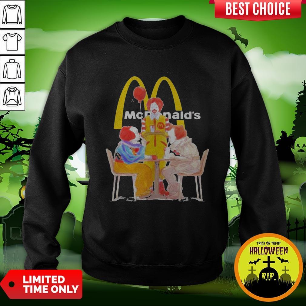 Nice Halloween Joker Characters Mcdonalds Sweatshirt