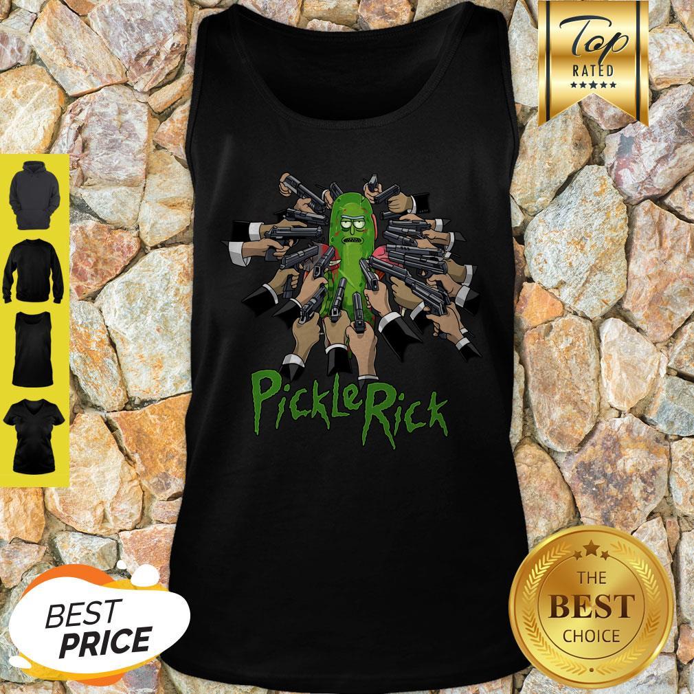 Nice John Wick And Pickle Rick Tank Top
