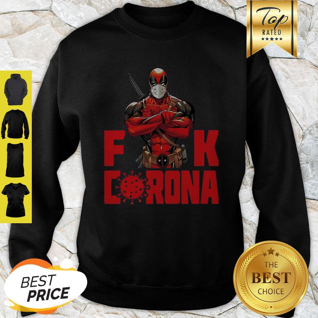 Official Deadpool Fuck Corona Covid-19 Sweatshirt